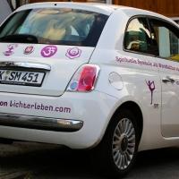 Werbung auf dem Auto für Lichterleben.com