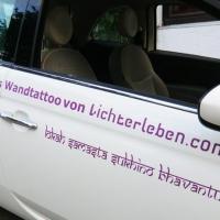 Mantra Wandtattoo oder auch als Autoaufkleber