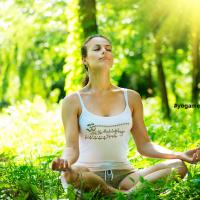Lakshmi Mantra Golddruck Yoga Tank Top
