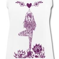 Yoga Design der Baum mit Herz