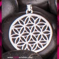 Blume des Lebens Anhänger echt Silber 25mm