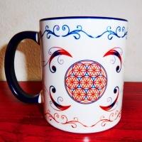Blume des Lebens Tasse