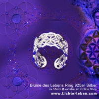 Blume des Lebens Ring echt silber