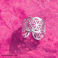 Blume des Lebens Ring silber