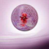 Wanduhr Blume des Lebens Lotusblüte