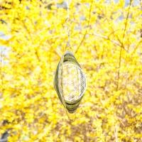 Blume des Lebens Windspiel aus Edelstahl 25 cm