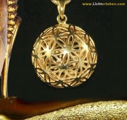 Kugel ''Blume des Lebens'' 925er Silber vergoldet