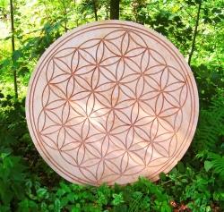 Blume des Lebens in Holz hadgefertigt als Wanddekoration