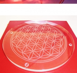 Blume des Lebens Kristallglasuntersetzer