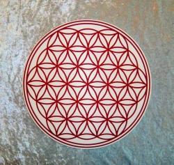 Blume des Lebens Wandtattoo für Aussen auf Kunstaoffplatte