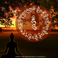 Wandtattoo_medicine_Buddha_mantra_tibet_Gold3