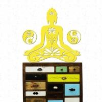 Buddha Yin Yang Lotus Wandtattoo