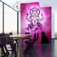 Ganesha Wandtattoo in Pflaume der neuen Trendfarbe 2014