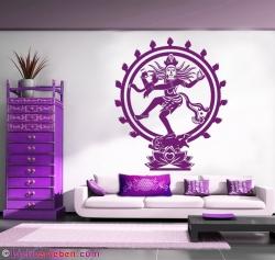 Shiva Wandtattoo