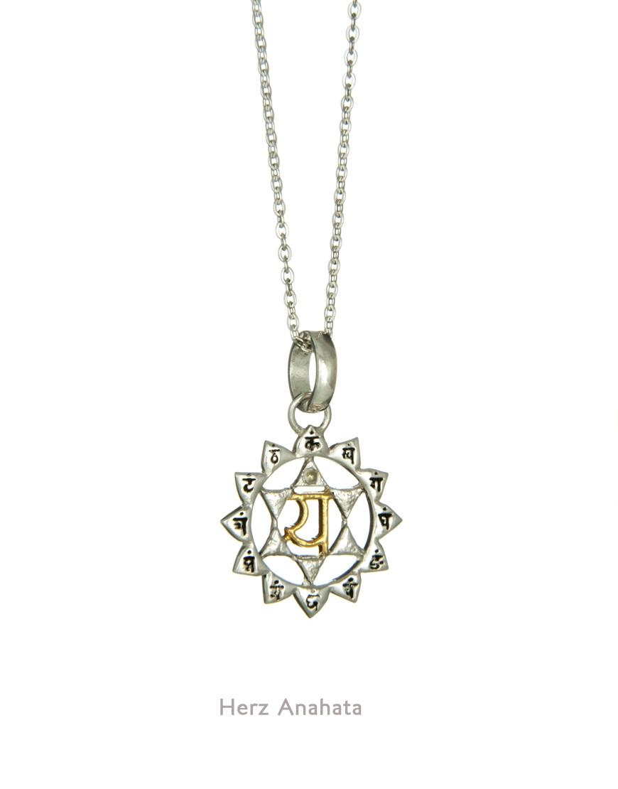 Anahata Herz Chakra in Silber und Gold