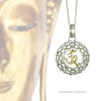 Kronenchakra Kettenanhänger silber und Gold