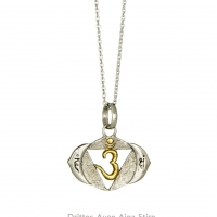 Ajna Chakra in Gold und Silber