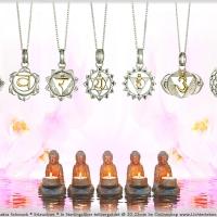 Chakren Kettenanhänger in Gold und Silber