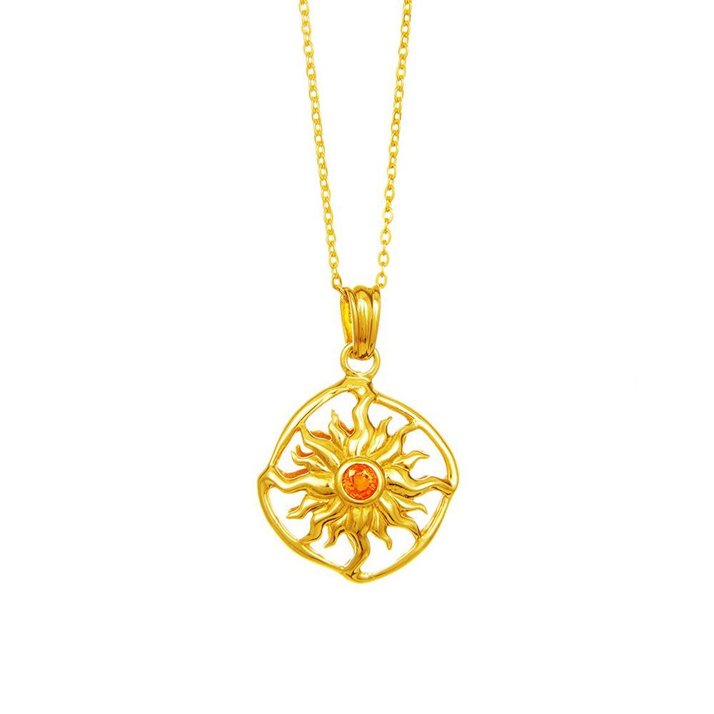 Sonnerad mit Saphir Gold