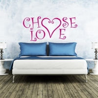 Choose Love Wandtattoo