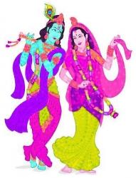 Krishna und Rama die Inkarnationen vom großen Gott Vishnu