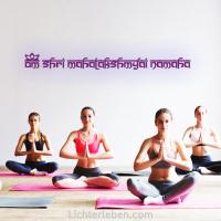 Mantra Wandaufkleber Lakshmi Yogastudio