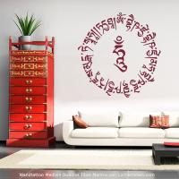 Mantra Wandtattoo Medizin Buddha