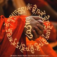 Tattoo als Wanddeko Aufkleber Mantra Medizin Buddha