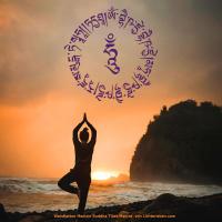 Wandaufkleber Medizin Buddha Mantra