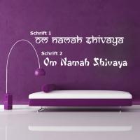 OM Namah Shivaya in 2 Schriftvarianten