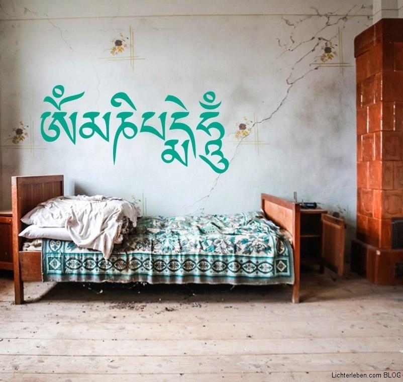 OM Mani Padme Hum-tibetisches Mantra als Wandtattoo