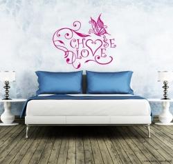 Choose Love Wandtattoo