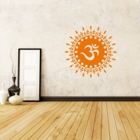 OM Sonne in orange als Wandtattoo