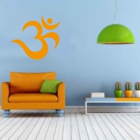 Om Symbol als Wandtattoo orange