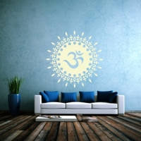 OM Sonne Wandtattoo Symbol