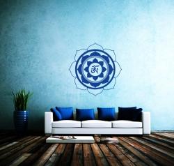 Wandtattoo Lotusblüte Mit Om Symbol