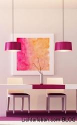 Radiant Orchid eine Farbstimmung mit Pinken Akzenten