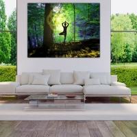Wanddeko Baum Yogi Blume des Lebens