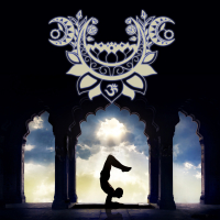 Wandbild Mondgruss Asana Yogapraxis Deko