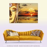 Wanddeko Golden Buddha