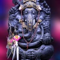 Wanddeko Ganesha Hindugott für Wohnglück