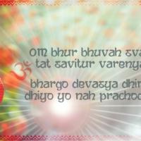 Wandbild Fotoprodukt Gayatri Mantra