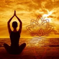 Wandbild Lotus OM Meditatiom