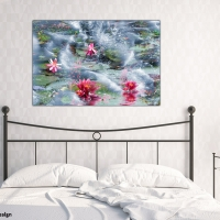 Wanddeko für dein Schlafzimmer Lotus im Meer