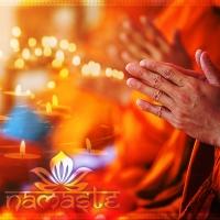 Fotoprodukt für Wanddeko Namaste der Yogigruss