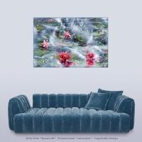 Wanddekoration Lotus Meer
