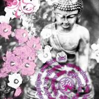 Buddha Deko für Wandbild Tryambakam Mantra