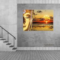 Golden Buddha Wanddekobild Inneraum