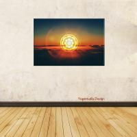 Wanddeko Bild Sunset Tibet Mandala