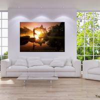 Fotomotiv für Wanddekobild Yoga Asana